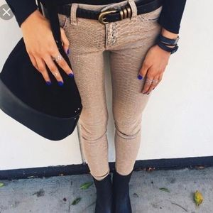 Brand new LF Carmar snake skin print jeans